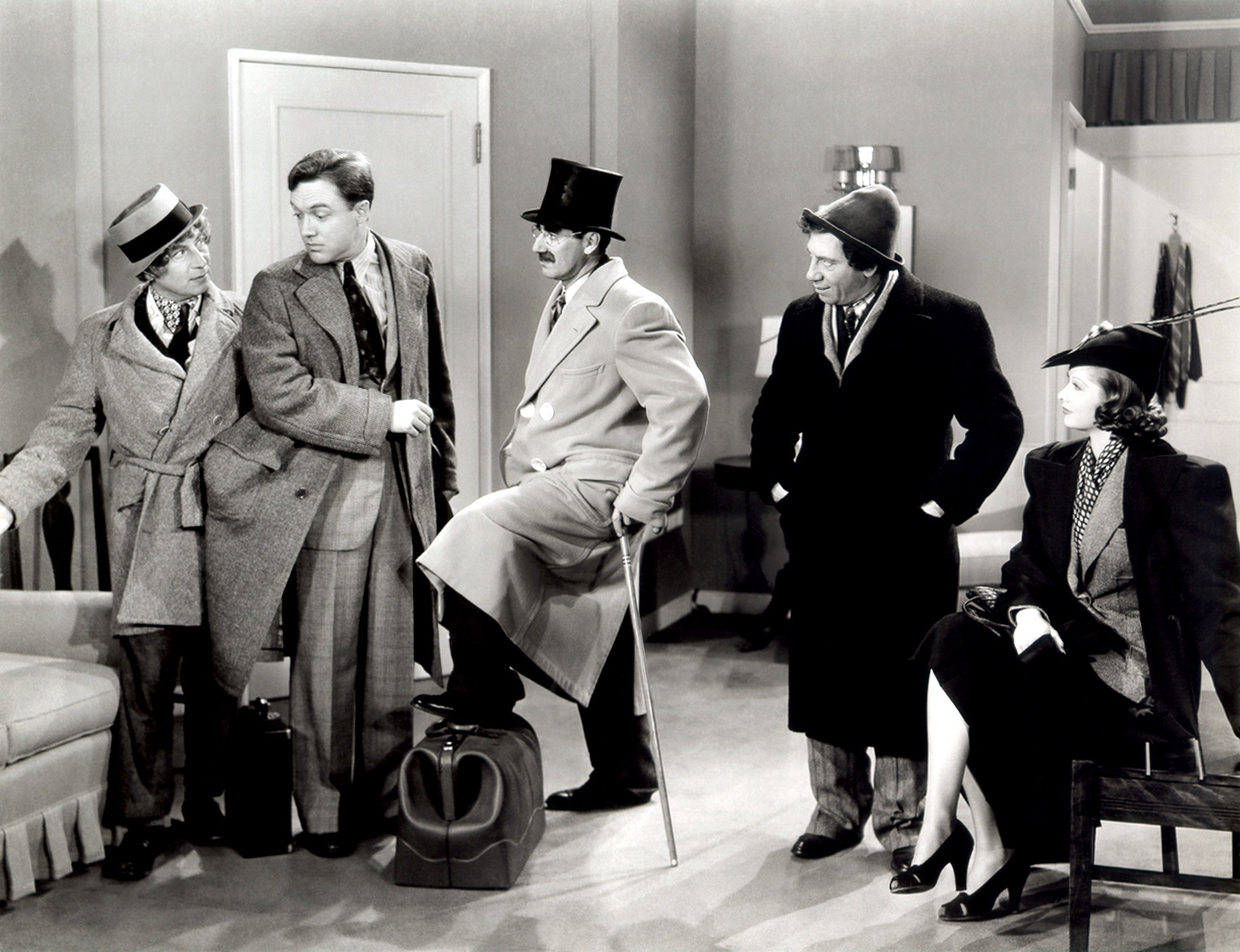 The Marx Brothers in 1938's Room Service.