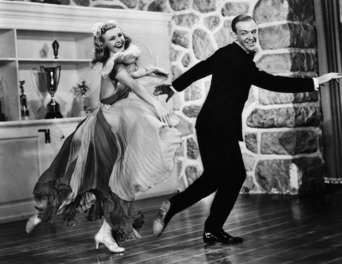 It is hard not to think of Fred Astaire when you hear the name Ginger Rogers. They made 10 movies together.