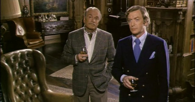 Laurence Olivier and Michael Caine in 1972's Sleuth