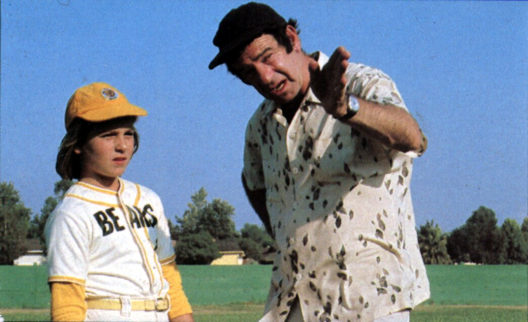 Tatum O'Neal and Walter Matthau in 1976's The Bad News Bears
