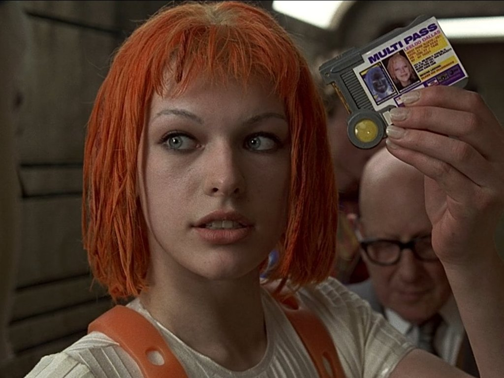 Milla Jovovich in 1997's The Fifth Element......Multipass!
