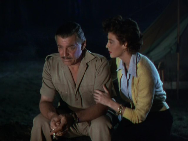 Clark Gable and Ava Gardner in 1953's Mogambo....one of three movies they made together