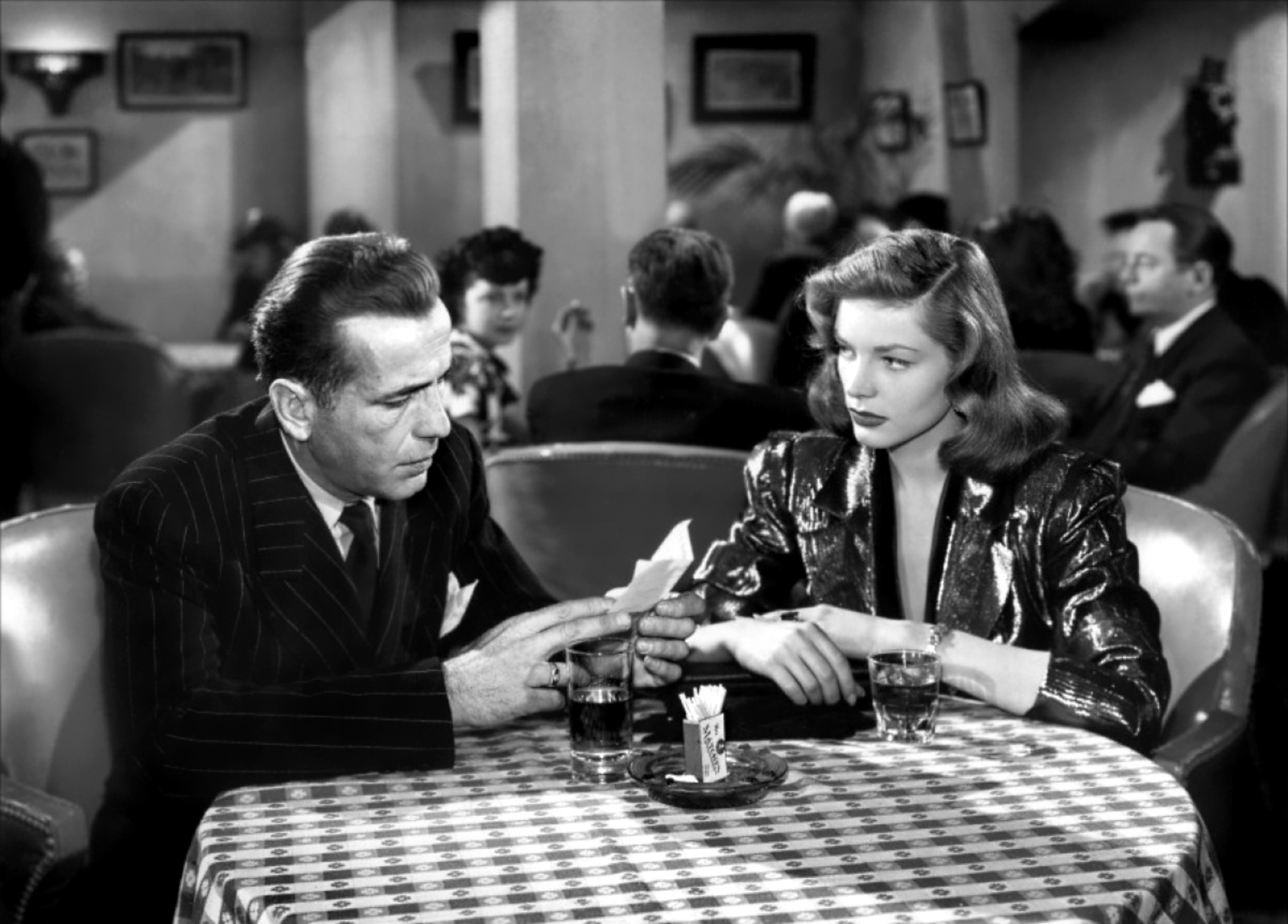 Humphrey Bogart and Lauren Bacall made 4 movies together as well as 2 children.