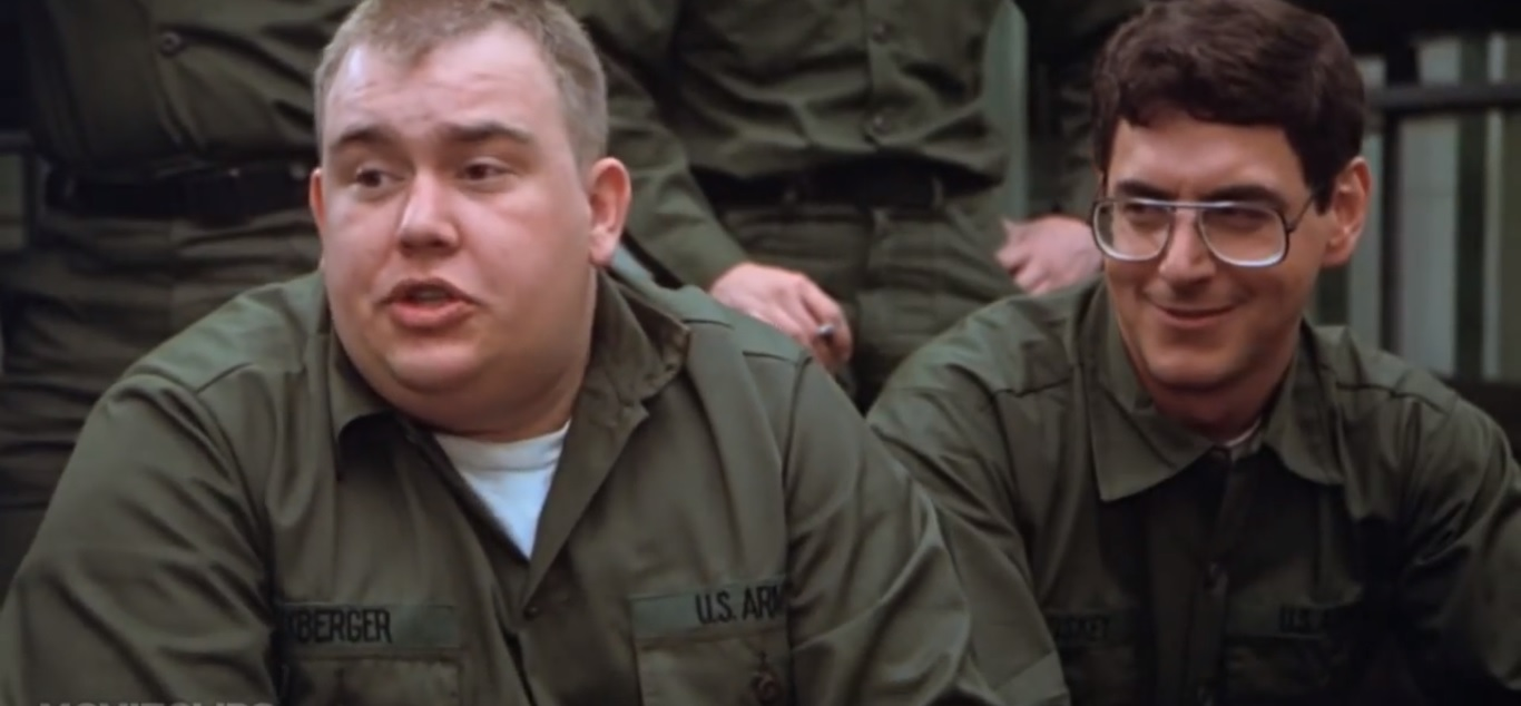 John Candy and Harold Ramis in Stripes
