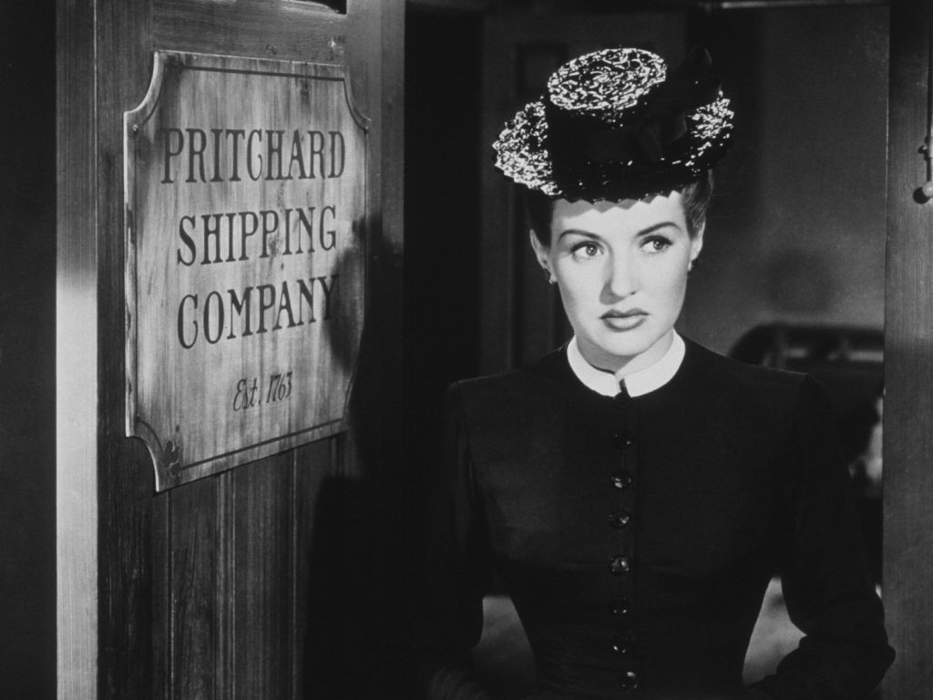 Betty Grable in 1947's The Shocking Miss Pilgrim