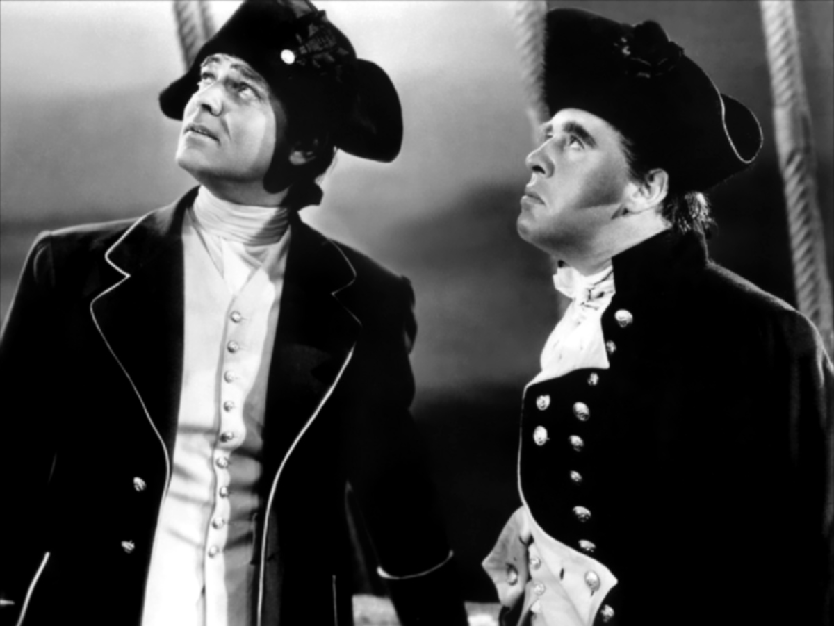 Clark Gable and Charles Laughton in 1935's Mutiny On The Bounty
