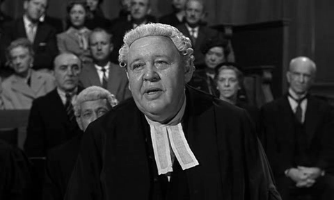 Charles Laughton in 1957's Witness For The Prosecution