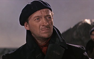 David Niven in 1961's The Guns of Navarone
