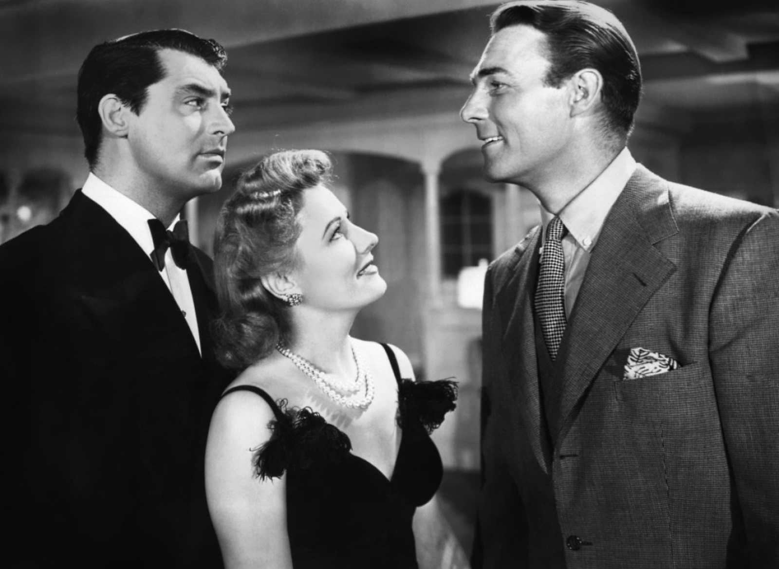 Cary Grant, Irene Dunne and Randolph Scott in 1940's My Favorite Wife
