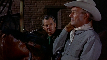 Lee Marvin and Randolph Scott in 1956's Seven Men From Now