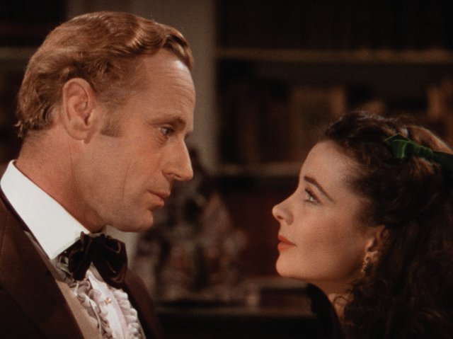 Leslie Howard and Vivien Leigh in 1939's Gone With The Wind