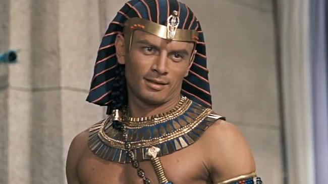 Yul Brynner in 1956's The Ten Commandments
