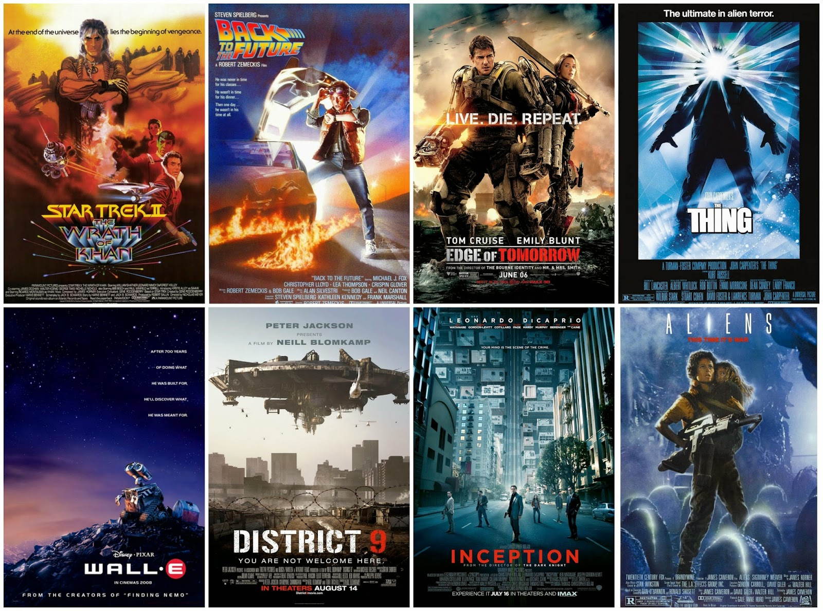 All eight of these movies made the Top 200 Science Fiction Movie table