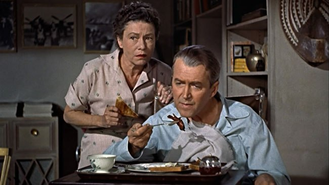 Thelma Ritter and James Stewart in 1954's Rear Window