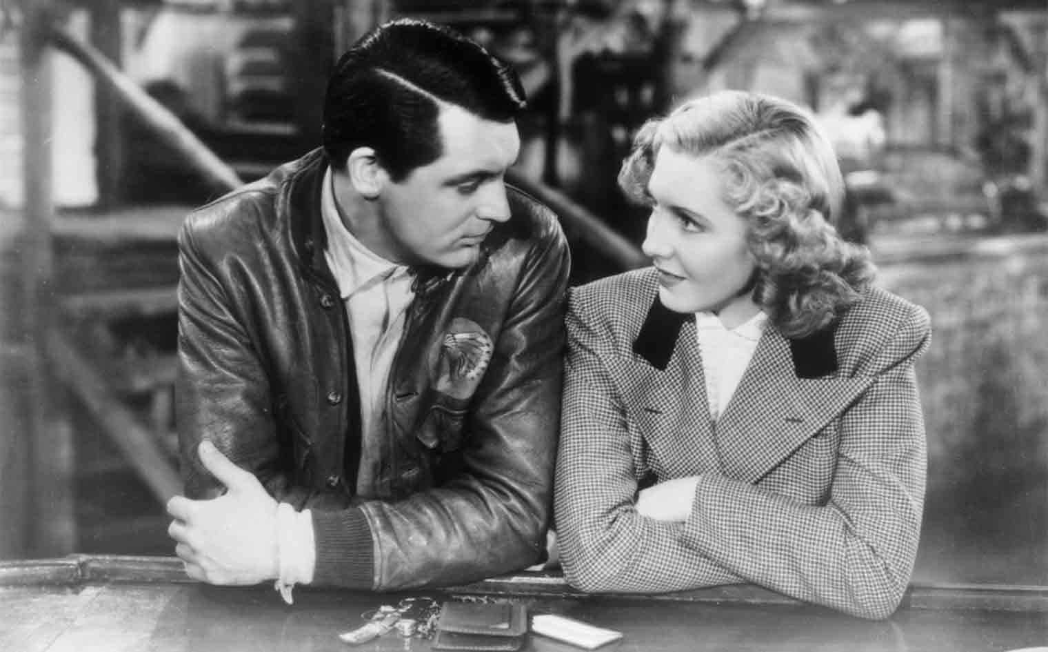 Cary Grant and Jean Arthur in 1939's Only Angels Have Wings