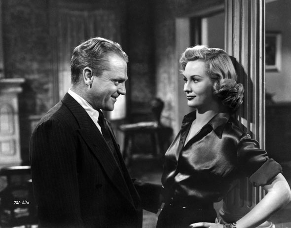 James Cagney and Virginia Mayo in 1949's White Heat...which critics and audiences say is her best movie.