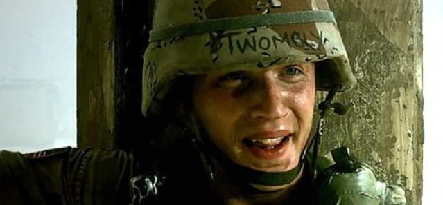 Tom Hardy as Twombly in Black Hawk Down
